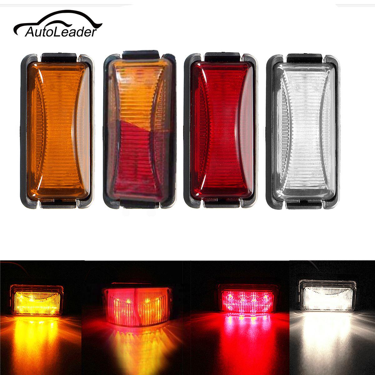 1Pc  12V 8 LED Trailer Tail Light Side Marker Indicators Lights Clearance Signal Light For Truck Van Boat