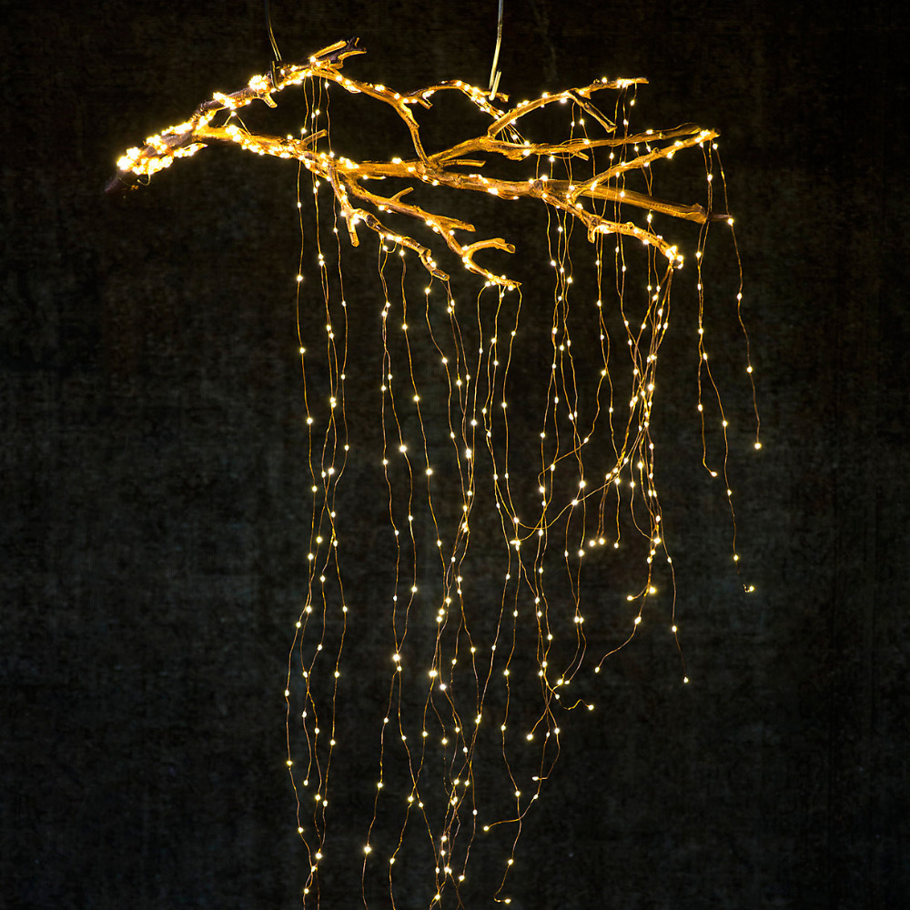 20x2m 400 Led Copper Wire Fairy String Lights Garland Outdoor Christmas New Year Party Wedding Decoration # Attractive Appearance Led Lighting