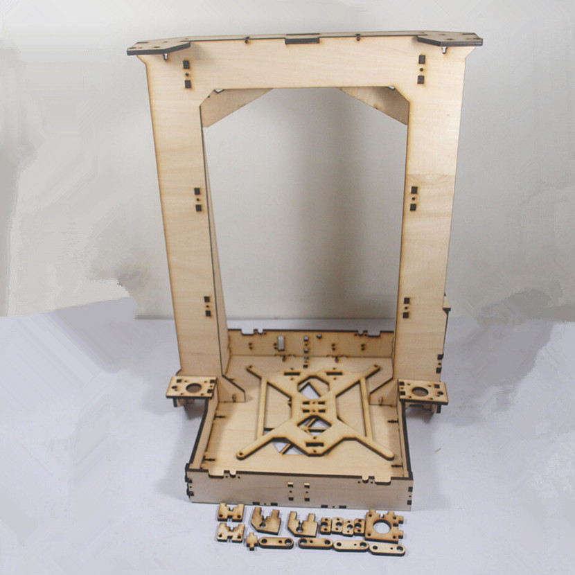 Horizon Elephant Reprap prusa i3 upgrade Pi-printer Laser Cut Frame for DIY 3d printer in 6mm plywood Laser Cut frame set/kit horizon elephant reprap prusa mendel i3 smooth rod screw rod screw kit for diy 3d printer