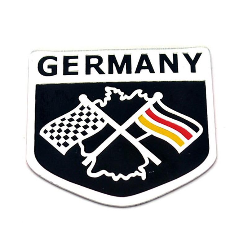 Germany Car Emblem Side Wing Sticker For Toyota Vw R36 R400 R32 R20