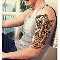 1 шт. Таиланд слон дизайн Татуировки Наклейки Женщины Животных Боди-Арт Водонепроницаемый Временные Татуировки Мужчины рукавом Половина Рука татуировки