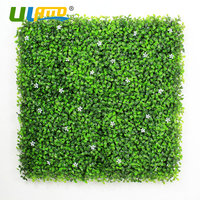 12 Pieces 50x50cm Outdoor Artificial Boxwood Hedges Synthetic Flower Fencing UV Privacy Ivy Fence Wall Home