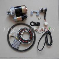 ELECTRIC START KIT FIT YANMAR L100 DET DIESEL 10HP CONVERSION STARTER MOTOR KEY SWITCH FLYWHEEL RING