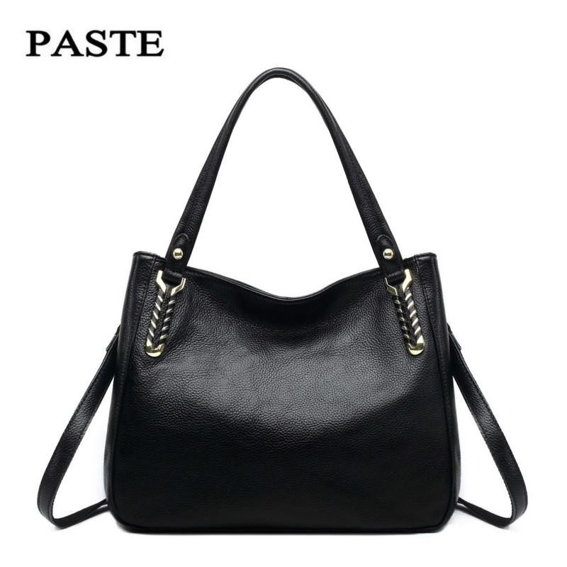 100% Genuine Leather Women Handbag Female Shoulder Bag 2017 Fashion Head Layer Cowhide Simple Messenger Bags Sac bolsa feminina luxury genuine leather bag fashion brand designer women handbag cowhide leather shoulder composite bag casual totes