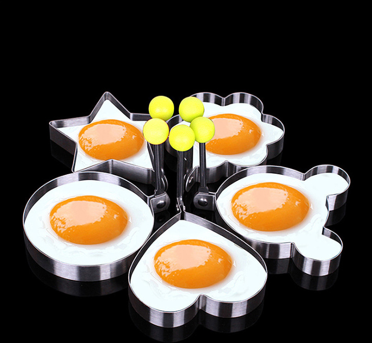 5 Pieces/set Stainless Steel Shaped Fried Egg Mold Pancake Rings Mold DIY Kitchen Baking Accessories 5 Pieces/set