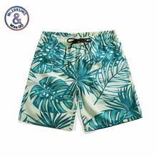 Mr.1991INC Men Beach Shorts Quick Drying Tropical Style Plant Print Board Shorts Palm Tree Leaves Male Bermudas Boardshorts fashion leaves printed boardshorts for men