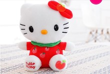 10 pieces small cute apple kitty toy plush red kitty toys kitty cat doll gift doll about 20cm