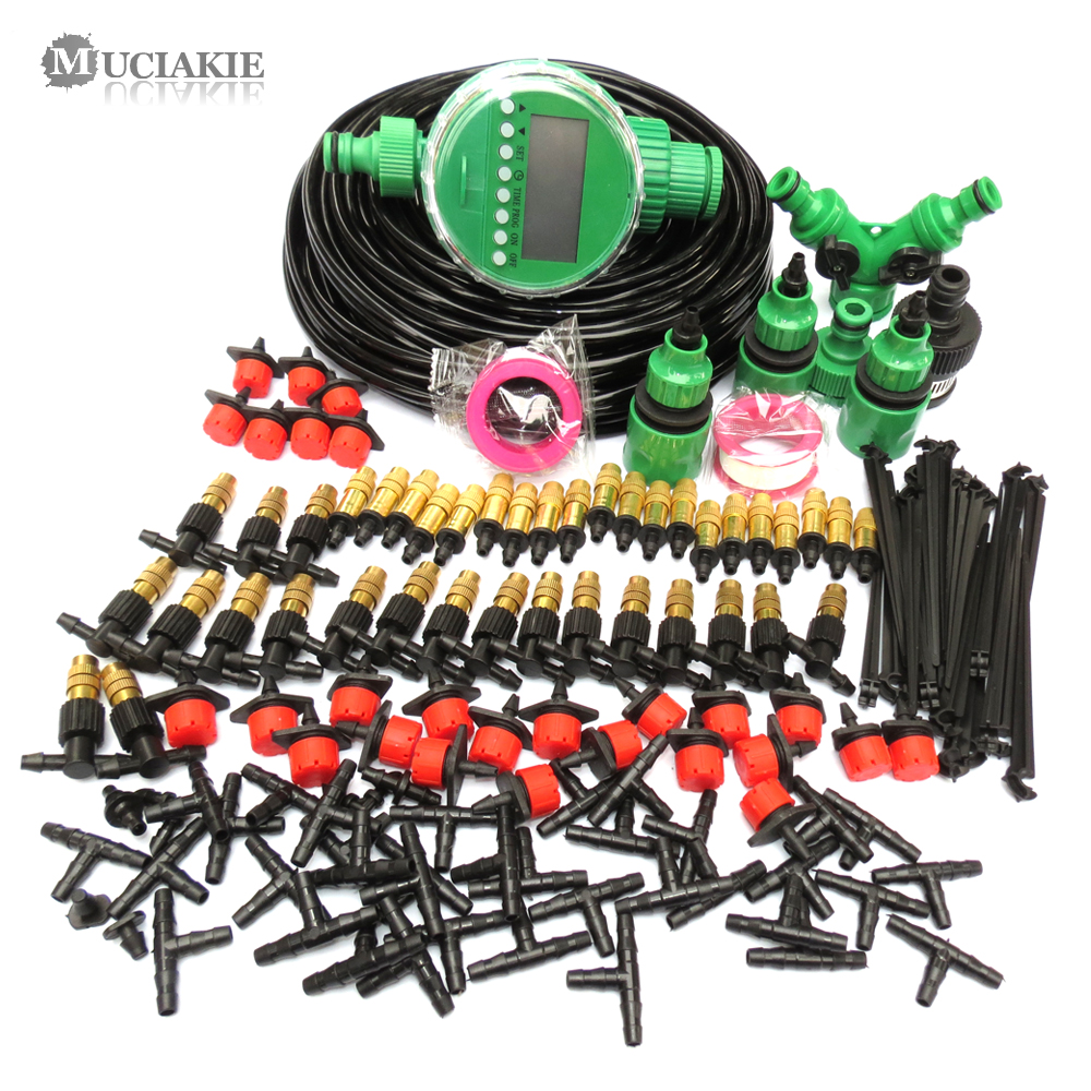 MUCIAKIE 5M 50M Automatic Garden Watering System Kits Self Garden Irrigation Watering Kits Micro Drip Mist MUCIAKIE 5M-50M Automatic Garden Watering System Kits Self Garden Irrigation Watering Kits Micro Drip Mist Spray Cooling System