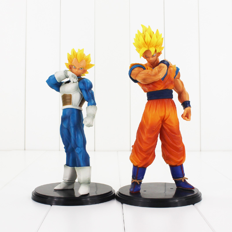 2styles Dragon Ball Z Resolution of Soldiers ROS Son Goku Vegeta Dragonball Super saiyan PVC Figure Collectible Model Toy [pcmos] anime dragon ball z ros resolution of soldiers awaken son gokou 57 pvc figure 15cm 6in toys collection no box 5932 l