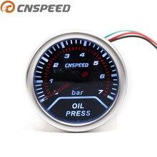 """CNSPEED """" 52 мм 12 в автомобильный масляный пресс-датчик 0-7 бар датчик давления масла с датчиком дымовая линза гоночный автомобиль измеритель давления YC101231"""