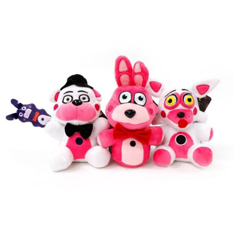 US $8 09 10% OFF|6/ 20cm FNAF Five Nights At Freddy's Sister Location Plush  Toys Freddy Bear Bonnie Foxy Baby Toy Fnaf Plush Stuffed Toy-in Action &