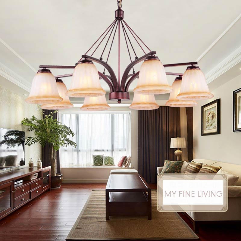 Ceiling Lamp Shades For Living Room: Modern Glass Lamp Shades Chandelier Ceiling Led Light