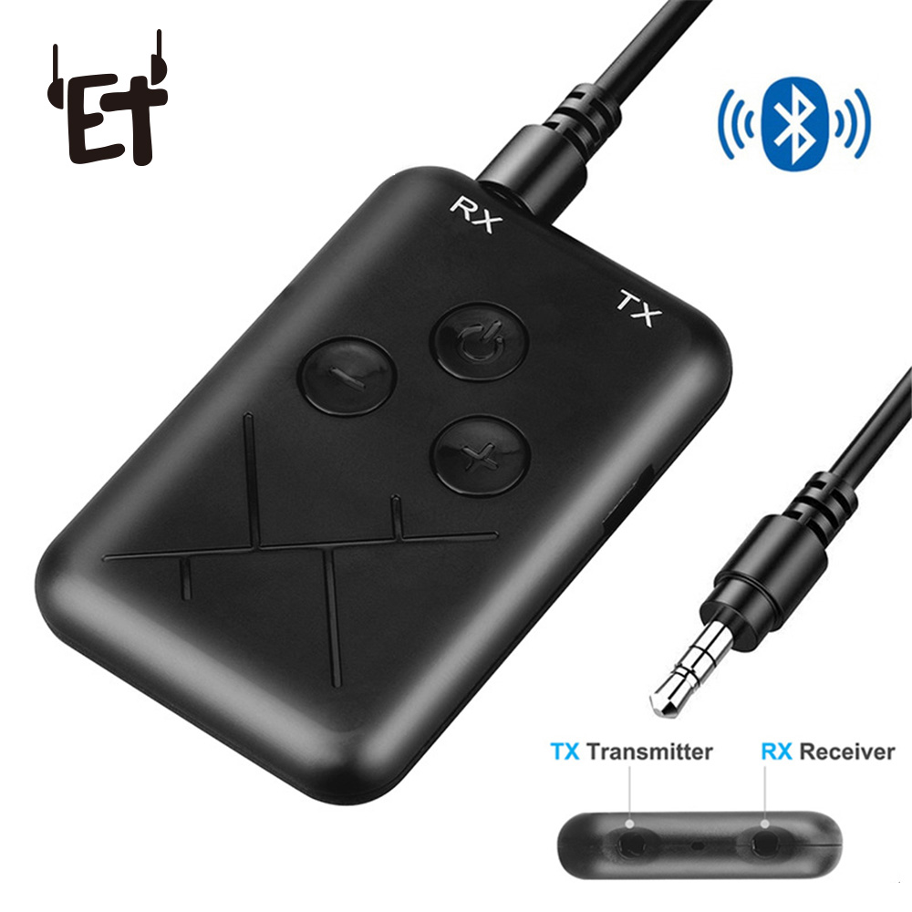 Tragbares Audio & Video Hingebungsvoll Et 2 In 1 Bluetooth 4,2 Empfänger Sender Drahtlose Bluetooth Adapter 3,5mm Aux Stecker Für Home Tv Mp3 Pc Laptop Auto Lautsprecher Reinigen Der MundhöHle.