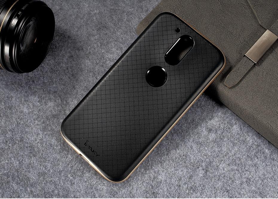 IPAKY עבור Motorola Moto G4 בנוסף G4 היברידית המקרים המחשב הפגוש + TPU הטלפון בחזרה מקרה עבור מוטו G4Plus טלפון סלולרי נייד כיסוי