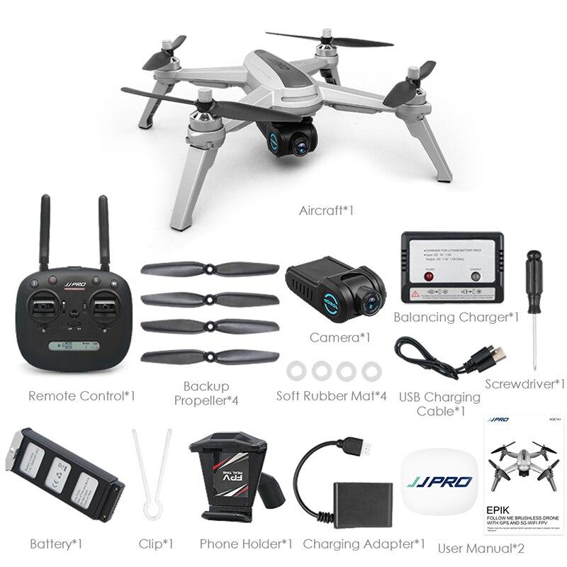 Drone JJRC X5 avec caméra 1080 P moteur sans balai Drone RC EPIK 5G positionnement suivez-moi maintien d'altitude 60 km/h quadrirotor vs E58