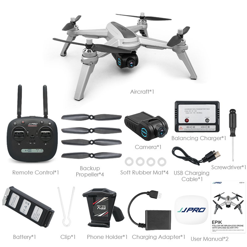 JJRC X5 Drone with 1080P Camera Brushless Motor RC Drone EPIK 5G Positioning Follow Me Altitude Hold 60km/h Quadcopter vs E58