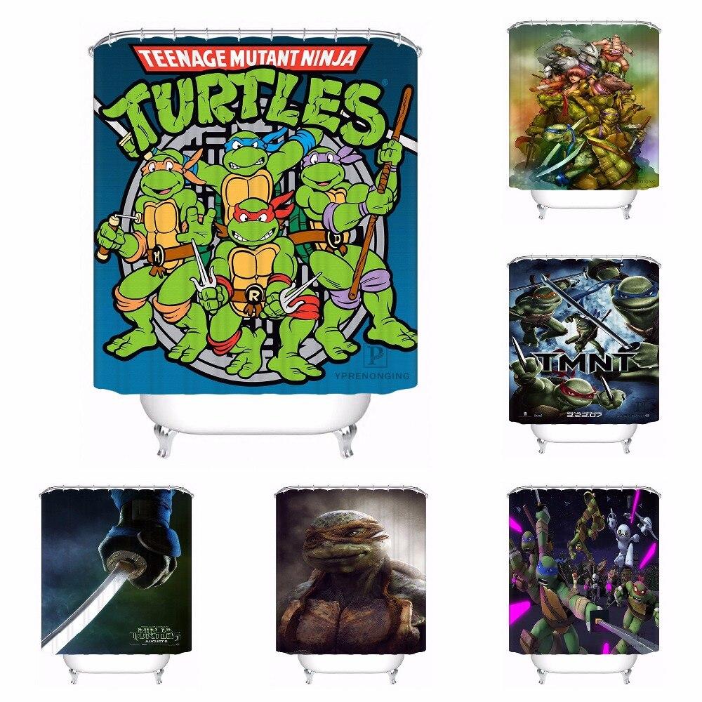 Custom Teenage Mutant Ninja Turtle Bathroom Acceptable Shower Curtain Polyester Fabric Bathroom Curtain #180320-01-127