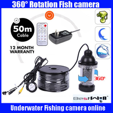50 M Cable Underwater Inspection View Camera For Fishing System 18 LED LIGHTS 360 Degree Rotating Waterproof Underwater Camera