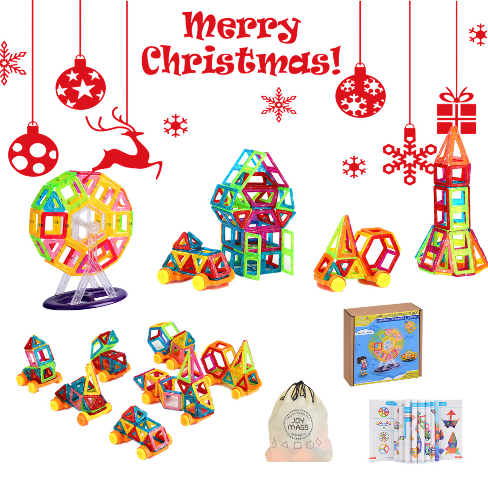 SuSenGo 40/60 Pcs Mini Magnetic Blocks Designer Kits 3D Building Constructor Toy Bricks DIY Educational Toys For Christmas Gifts 62pcs set magnetic building block 3d blocks diy kids toys educational model building kits magnetic bricks toy