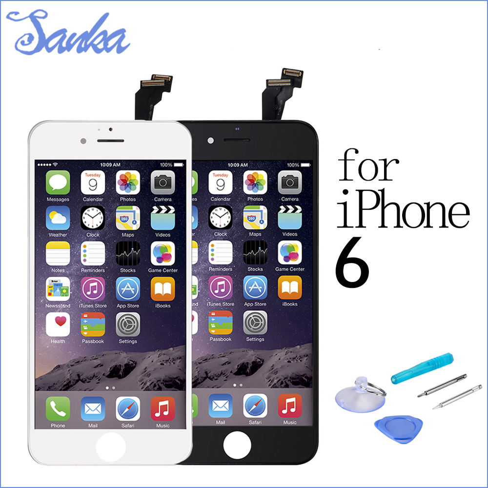 SANKA 10PCS Replacement 4.7 For iPhone 6 LCD Display Touch Screen Digitizer Assembly Mobile Phone LCD Ecran Pantalla Parts