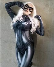 Newest Black Symbiote Female Costume Spidey Cosplay Halloween Spider-man Superhero Costumes For Adult/Kids Free Shipping