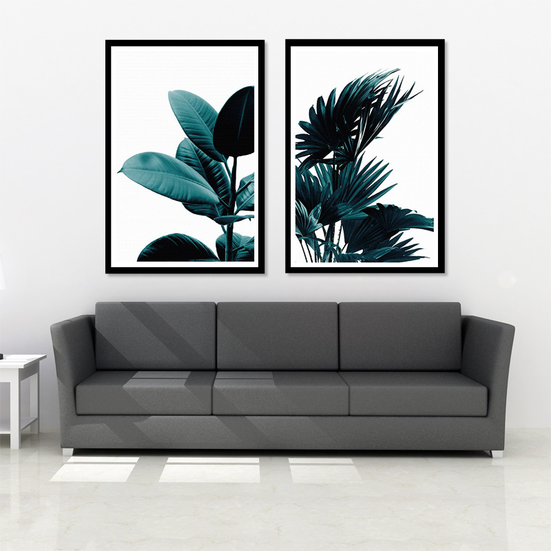 Watercolor Leaves Wall Artwork Canvas Portray Inexperienced Model Plant Nordic Posters and Prints Ornamental Image Trendy Dwelling Ornament Portray & Calligraphy, Low-cost Portray & Calligraphy, Watercolor Leaves Wall Artwork...