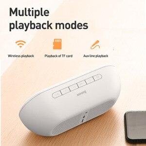 Image 2 - Baseus E09 altoparlante Bluetooth portatile con sveglia altoparlante Wireless musica Surround altoparlante per telefono PC Computer