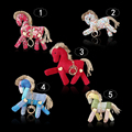 Horse Pony Plush Toys Keyring Stuffed&Plush Animal Horse Toys for Children Creative Ponies Cloth Kids Doll Keychain Gifts KR001
