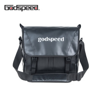 Godspeed pvc tarpaulin messenger bag waterproof fashion shoulder bag multi functional sling business bag for men