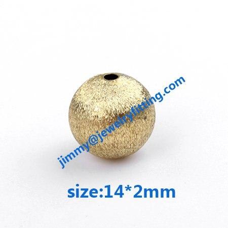 Tamanho 14 * 2 mm resultados da jóia contas de metal de bronze grânulos de mancha escova de cobre acessórios de moda