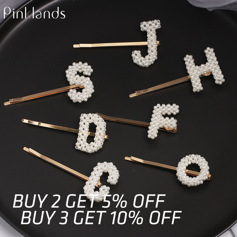 Women Hair Clips Girls Grips Rhinestone Words Shiny Hairpin Slide Hair Pin NEW
