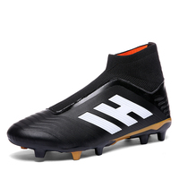 549e3112 Zeeohh Soccer Shoes High Ankle Superfly Football Boots Long Spikes FG Men  Adults Kids Original Outdoor