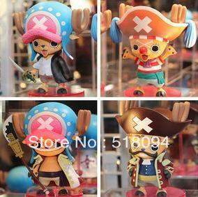 anime figures Chopper One Piece Tony Tony Chopper Cos Shanks Edward Roger Buggy Action Figures  set of 4 Free Shipping Anime free shipping japan anime one piece tony tony chopper plush cotton cap cosplay hat
