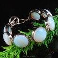 16X16 MM Opal Opalite Moeda Bead Bracelet Bangle