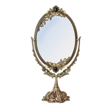 European retro makeup mirror Desktop double-sided HD Princess beauty wedding desktop dressing