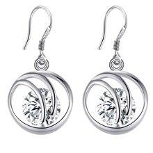 luxury,purple shiny high quality Silver Earrings for women fashion jewelry earrings /SAMZBITM GJKKCMRV