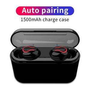Image 1 - HBQ auriculares TWS, inalámbricos por Bluetooth 5,0, intrauditivos portátiles con sonido estéreo 3D y micrófono, auriculares manos libres deportivos con emparejamiento automático