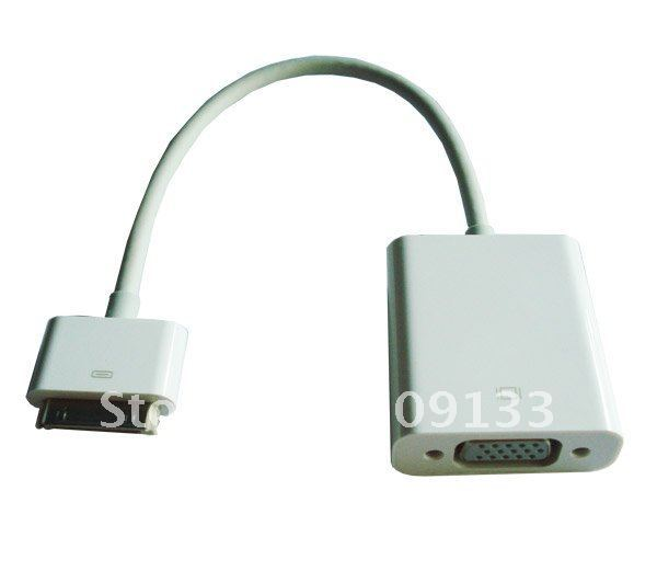 free shipping high quality ipad to vga adapter, idock to vga adapter