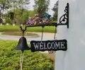 Gusseisen Hängen Hummingbird Glocke Dekorative Abendessen Glocke Vogel Blume Farm Ranch Cottage Terrasse Garten Tor Hof Ornament Außerhalb