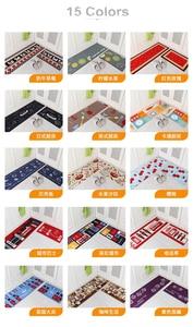 Image 5 - 2 Pçs/set Tapetes de Banho Tapete de Cozinha, 15 Cores Anti Deslizamento Grande Tapete Do Banheiro, Estilo Moderno Banheiro Tapete Para Banheiro de Alfombras
