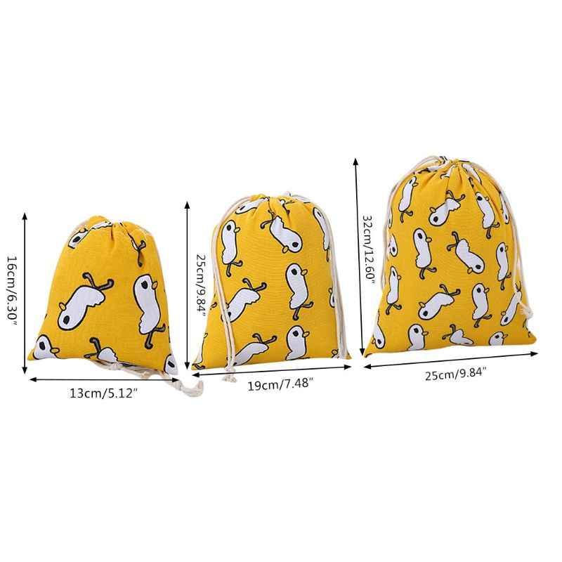 Moda de Nova Mulheres Dos Desenhos Animados Corda Saco de Ombro Meninas Senhora Ocasional Multifuncional Bolsa de Armazenamento De Viagem Cordão Pack S/M/ L