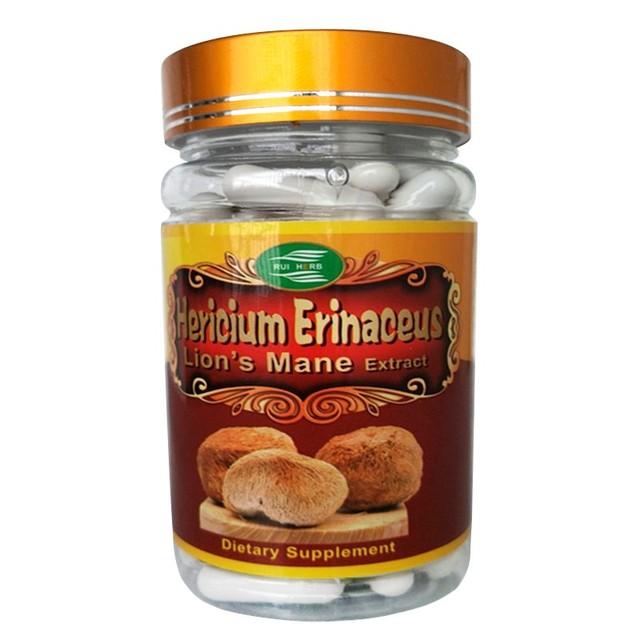 1 Garrafa Juba de Leão Hericium Erinaceus Extrato 30% Polissacarídeos Da Cápsula 500 mg x 90 pcs frete grátis