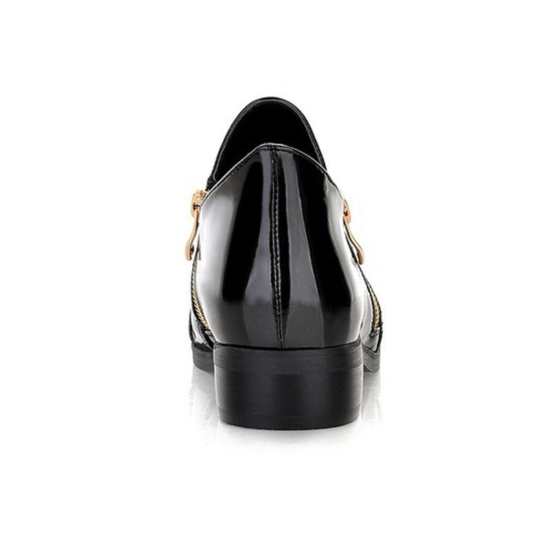 Moda de charol en punta del dedo del pie puntiagudo de las mujeres de - Zapatos de mujer - foto 3