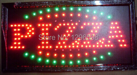 2014 Special Offer Hot Sale Graphics 15mm indoor Ultra Bright flashing 15.5X27.5 Inch PIZZA  Business Shop Led  open sign