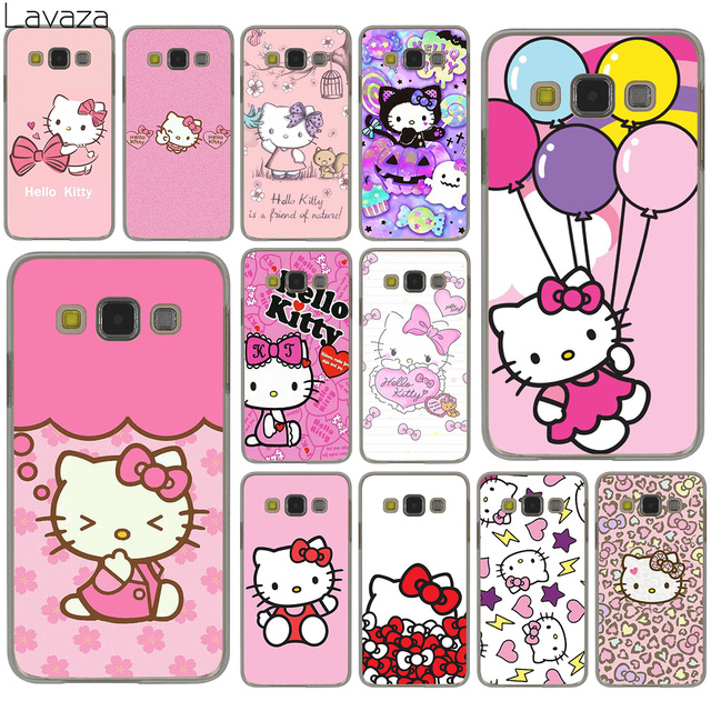 Lavaza lovely cute Hello Kitty lovely pink Hard Case for Samsung Galaxy S10 S10E S8 Plus S6 S7 Edge S9 Plus Phone Cover