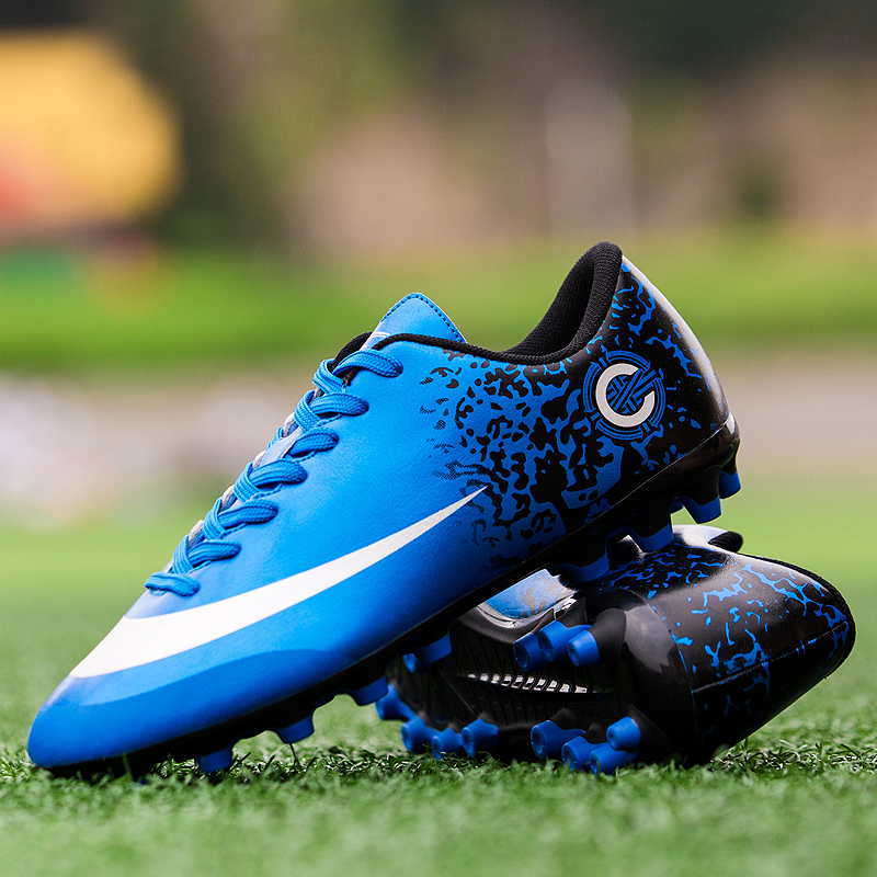 Kids Childs Boys Porto Lace Up Astro Turf Trainer Soccer Football Boots Sports