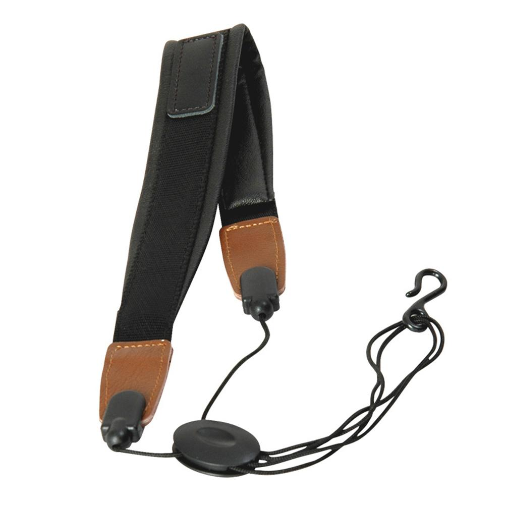Comfort PU Leather Saxophone Singer Shoulder Strap Sax Neck Strap With Soft Thick Pad For Soprano Tenor Alto Sax Clarinets Oboes