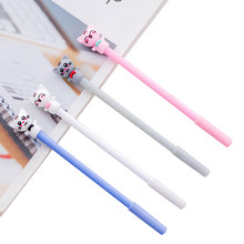 30pcs/lot kawaii cartoon lucky cat series signature pen reward gifts for students cute stationery gel pen(China)