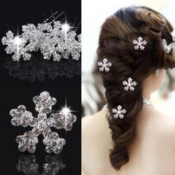 5 шт. женские заколки для волос Свадебные снежные цветок из страз-кристаллов заколки для волос шпильки головные уборы заколки аксессуары