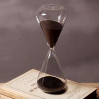 Black Sand Hourglass 60 Minutes Sandglass Timer Creative CraftsOrnaments Countdown Timing Home Decoration clock
